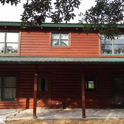 Log Home Staining | Florida