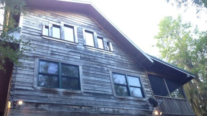 Log Home Cleaned, Energy Sealed, Stained 4